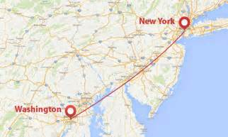 travelling time from new york to washington dc