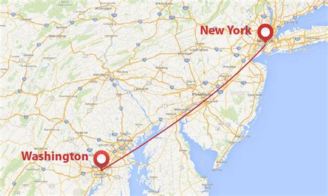 washington dc map new york jet shuttle between new york city and washington
