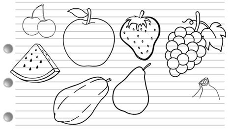 fruit drawings how to draw fruits