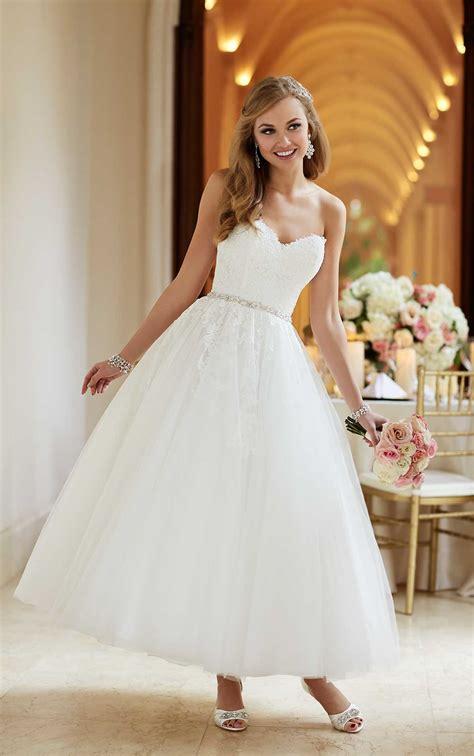 tea length short wedding dress stella york wedding