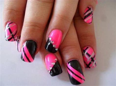 nail art design gallery photos hot 50 beautiful pink and black nail designs 2017