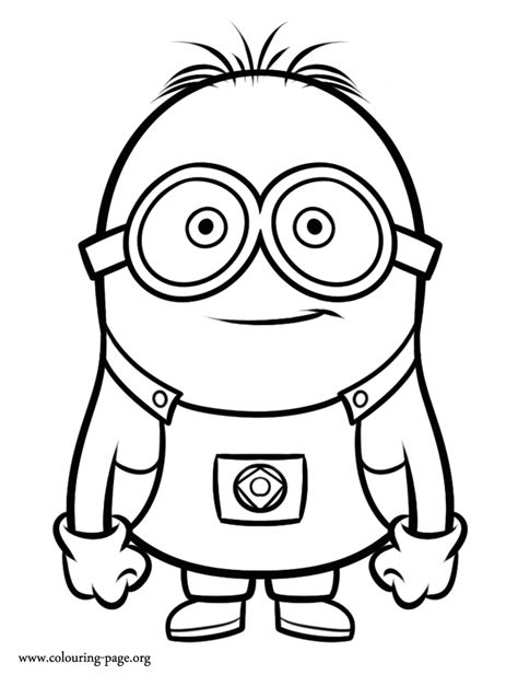 despicable me minion coloring page