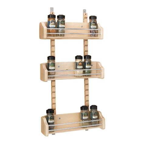 Spice Rack Cabinet Door Mount Rev A Shelf 4asr 25std 20 25in Adjustable Door Mount Spice Rack Rail Only Maple 20 Pk