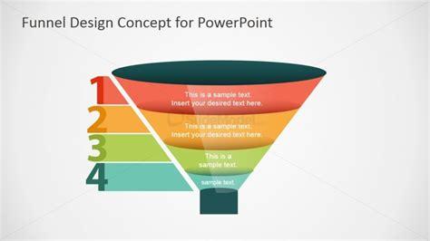 sales funnel template powerpoint free 4 step funnel concept design slidemodel