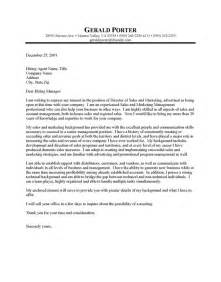 Cover Letter Sles For Posting by Cover Letter Of Sales Marketing