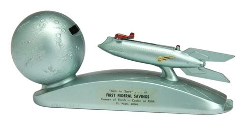 strato bank rocketship mechanical bank quot strato bank quot premium from