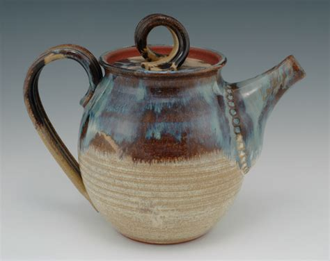 Handcrafted Ceramics - tea pot brown betty handcrafted stoneware handmade