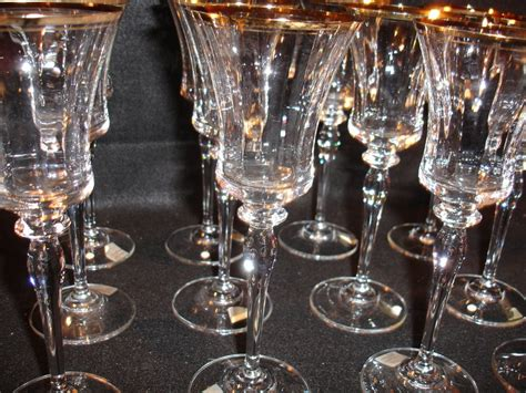 gold barware 12 mikasa jamestown gold wine glasses like new for sale antiques com classifieds