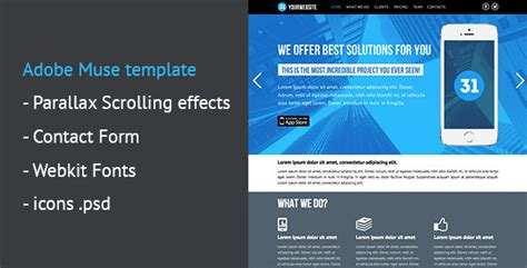 muse parallax templates one page parallax muse template your best themes