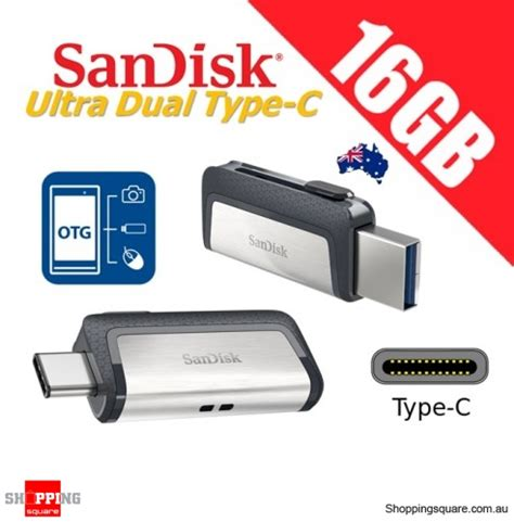 Sandisk Ultra Dual Usb Drive Type C 16gb Otg sandisk ultra dual drive 16gb usb type c usb 3 1 smartphone tablet pc 130mb s shopping