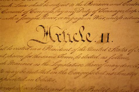 article 2 section 1 constitution how little can a president actually do talk politics