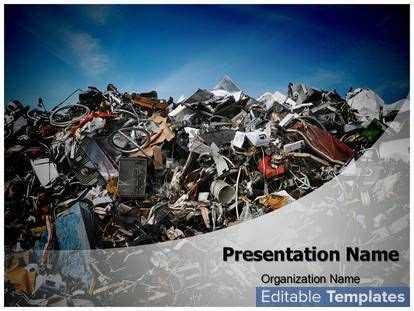15 Best Images About Powerpoints On Pinterest Waste Waste Management Powerpoint Template