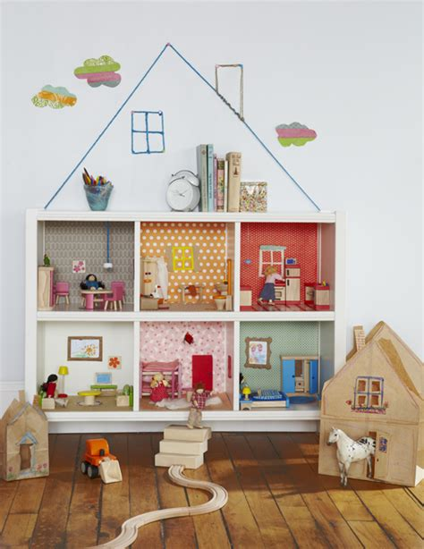easy diy turn a bookcase into a dollhouse babycenter