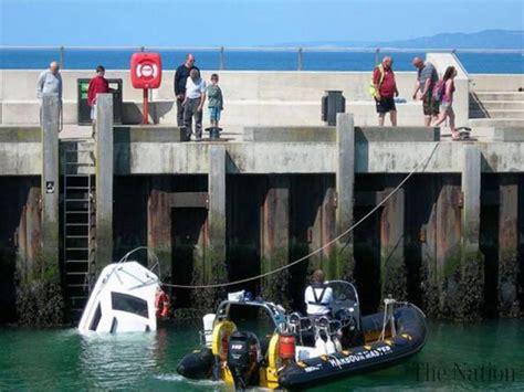 titanic boat english titanic ii sinks in english harbour