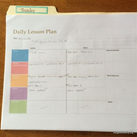 homeschool lesson planner pdf homeschooling today magazine free daily homeschool