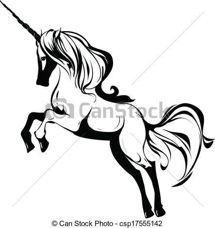 imagenes de unicornios en blanco y negro vecteur eps de licorne rearing unicorn noir blanc