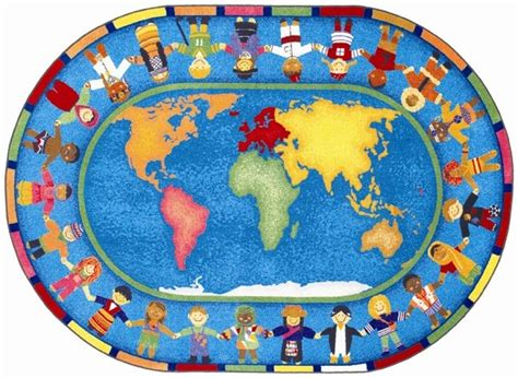 montessori rug around the world carpet oval e o montessori