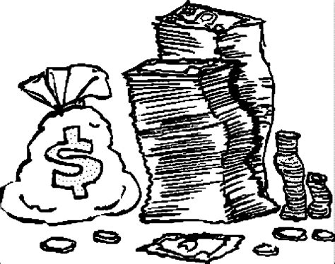 money coloring page coloring home