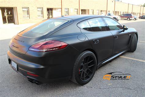 Porsche Panamera Gts Schwarz by Satin Black Panamera Gts Vehicle Customization Shop