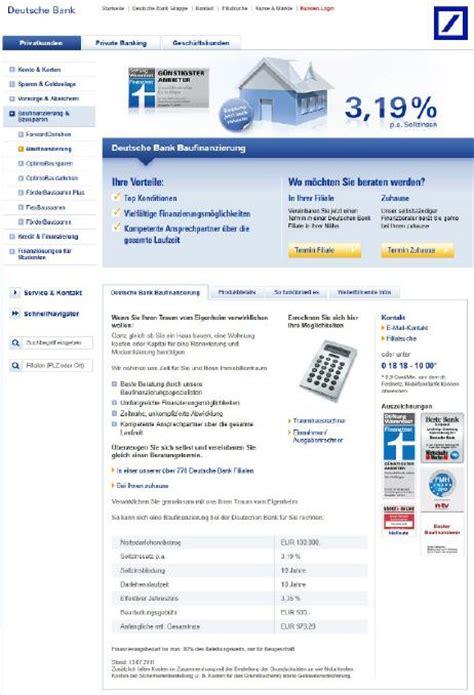 deutsche bank baufinanzierung zinsen deutsche bank baufinanzierung mein onlinekredit de