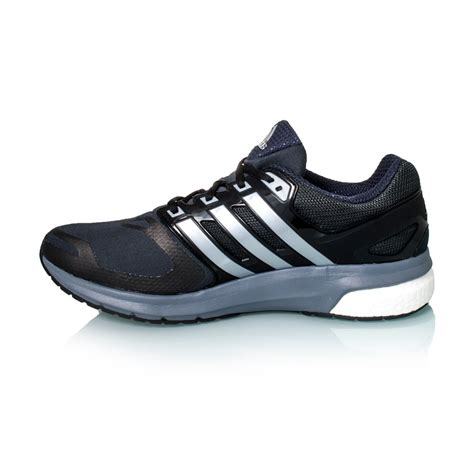 adidas questar boost techfit mens running shoes black silver metal grey sportitude