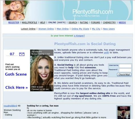 Plenty fish free dating site messages