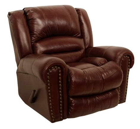 churchill recliner churchill chaise rocker recliner in cordovan leather by