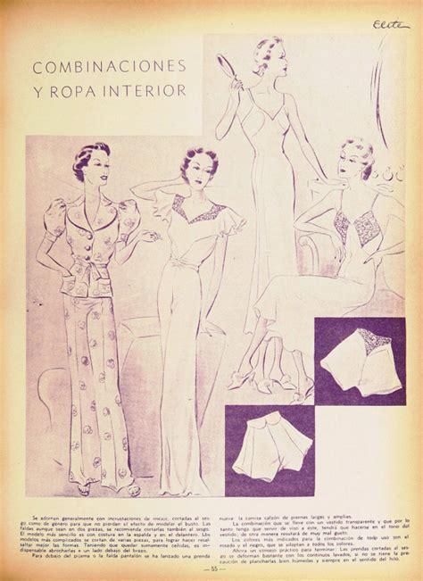 ropa interior combinaciones combinaciones y ropa interior revista elite 1937 viste