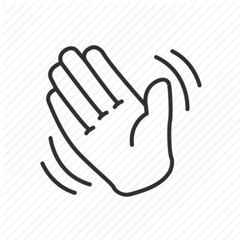 waving hand emoji   clip art