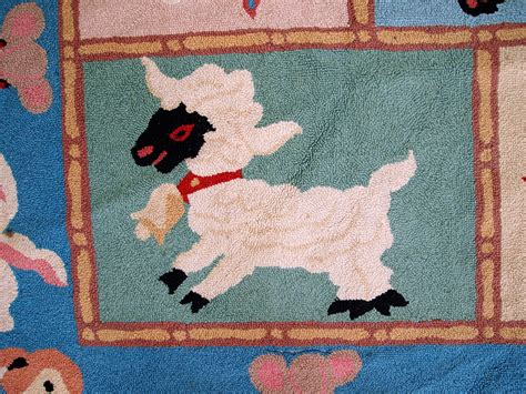 handmade hooked rugs vintage american handmade hooked rug with animals 1970s for sale at pamono