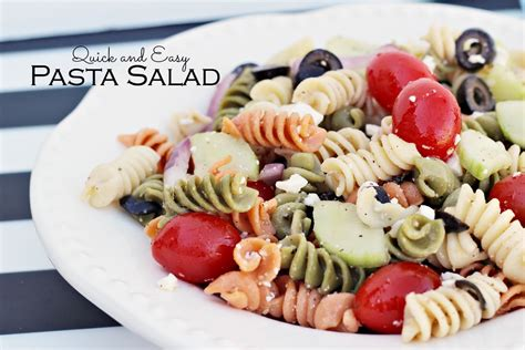 quick pasta salad quick and easy pasta salad recipe
