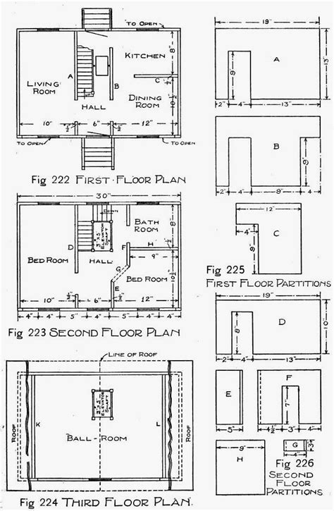 free dollhouse floor plans wooden doll house plans how to make a wooden doll house
