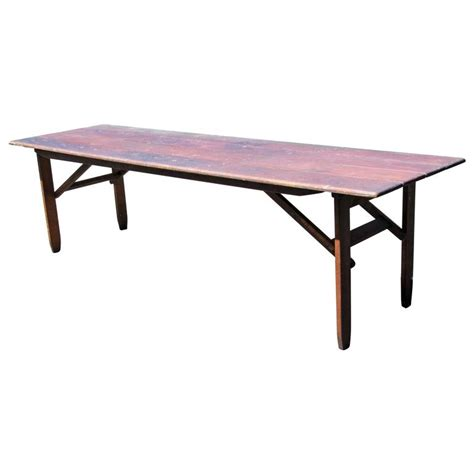 Harvest Dining Tables Folding Caign Harvest Dining Table For Sale At 1stdibs