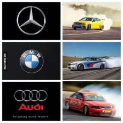mercedes vs bmw vs audi the correct version 9gag
