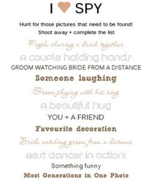 wedding scavenger hunt card templates wedding scavenger hunts on wedding table