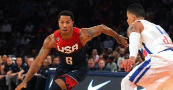 derrick rose on bench derrick rose plays off bench in team usa rout over puerto