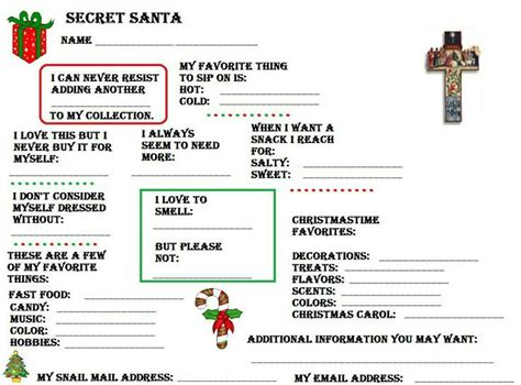 best 25 secret santa questionnaire ideas on pinterest