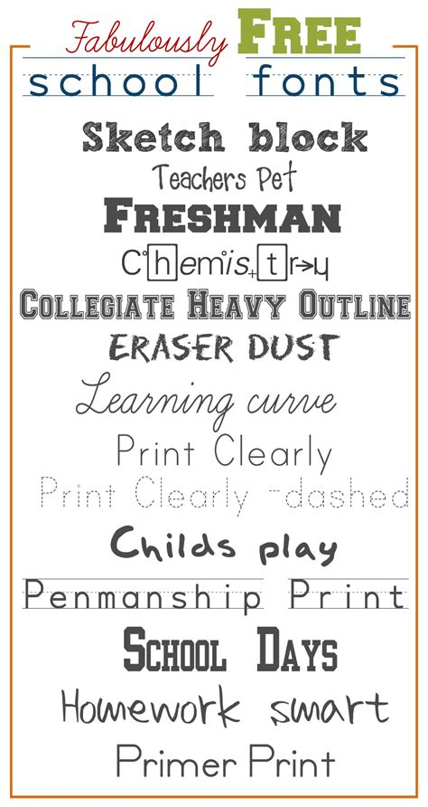 fonts free fabulously free school fonts