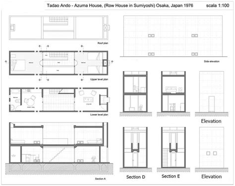 tadao ando floor plans azuma house plan drawings escortsea