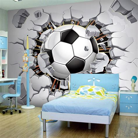 soccer murals for bedrooms wall mural 3d picture more detailed picture about cool