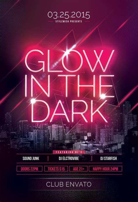 template flyer neon party glow in the dark flyer by stylewish on deviantart
