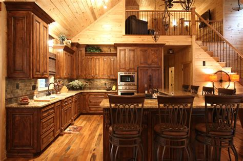 Cabin Style Kitchen Cabinets Rustic Cabin Style Traditional Kitchen By Walker Woodworking