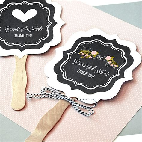 held fans for wedding personalized chalkboard wedding paddle fans