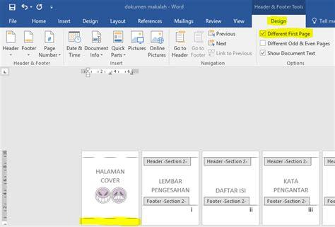 cara membuat halaman di word tanpa cover cara membuat nomor halaman di ms word dua rupa