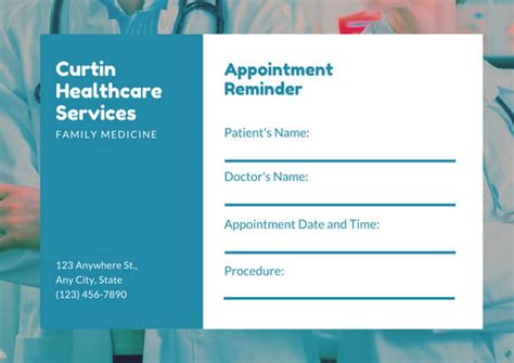 clinic appointment card template customize 31 appointment card templates canva