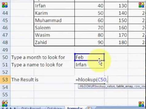 vlookup tutorial hindi how to use vlookup hlookup ms excel 2007 tutorial in