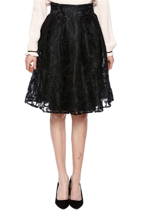 kikiriki black lace a line skirt from new jersey by