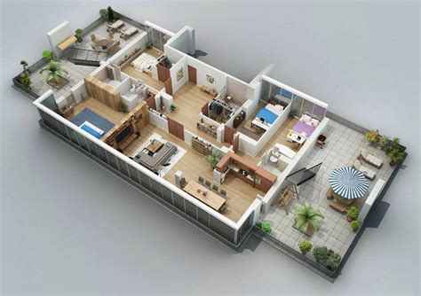 4 bedrooms apartments 50 four 4 bedroom apartment house plans bedroom