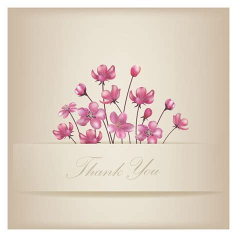 Thank You Tag Ato Kartu Ucapan Terimakasih floral thank you card vectors stock in format for free 4 45mb