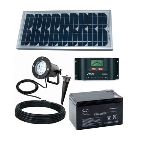kit eclairage solaire intelligent totem pack clairage